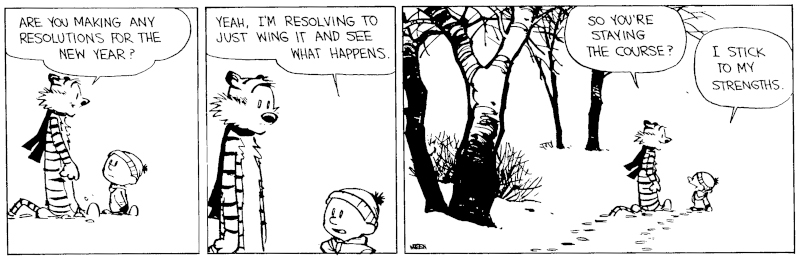 Calvin and Hobbes: New Years Resolution